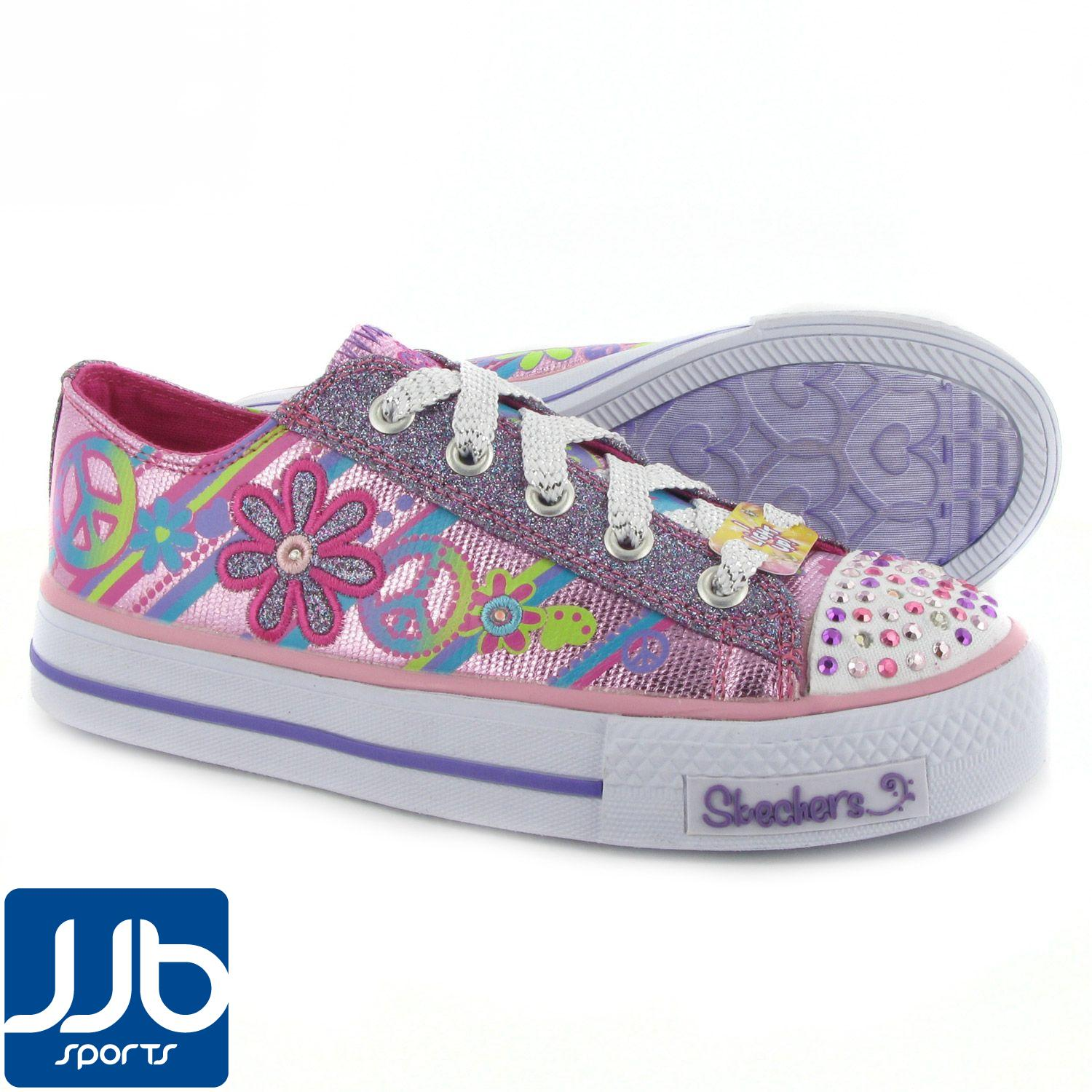 Skechers-Twinkle-Toes-Shuffles-Groovy-Baby-Girls-Trainers-Childrens