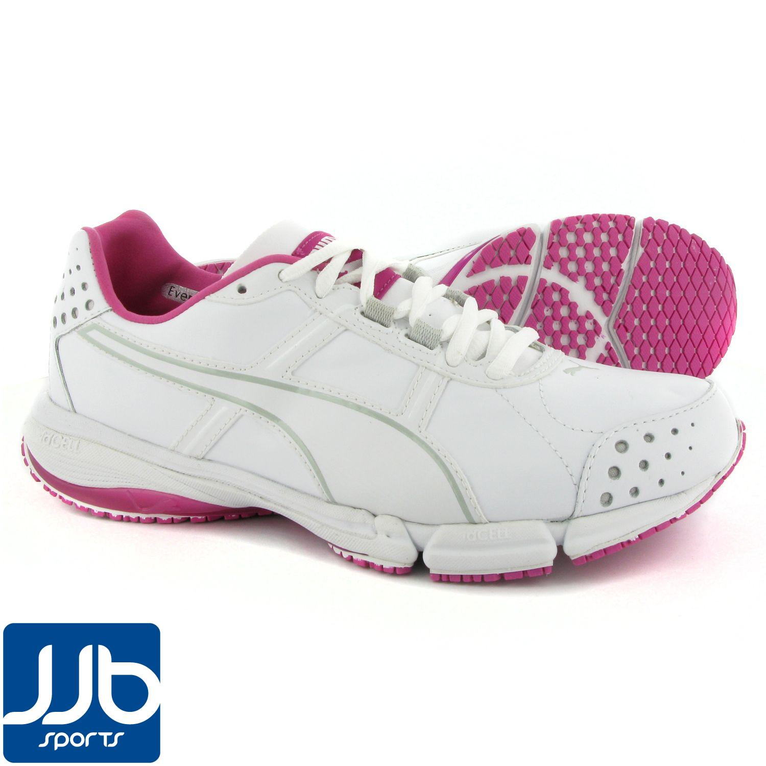 Puma-TrainLite-XT-Mesh-Womens-Toning-Trainers-White-Raspberry