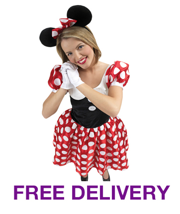 MINNIE MOUSE DISNEY COSTUME LADIES ADULT FANCY DRESS