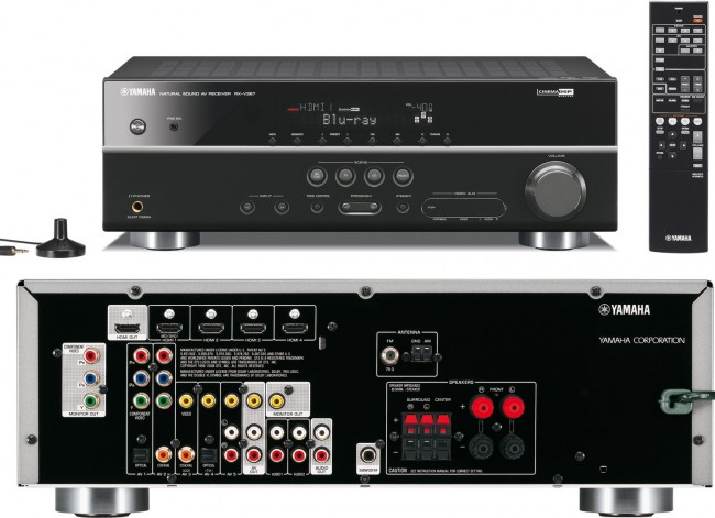 Yamaha rxv367 av receiver 120w output per channel 3d for Yamaha tv receiver