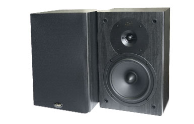 Richer Sounds. Gale Silver Monitor. Pair of Black Speakers. 90 Watt Output. Enlarged Preview