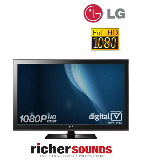LG 37LK450U 37 inch LCD TV 1080p HD Ready Freeview - Black Enlarged Preview