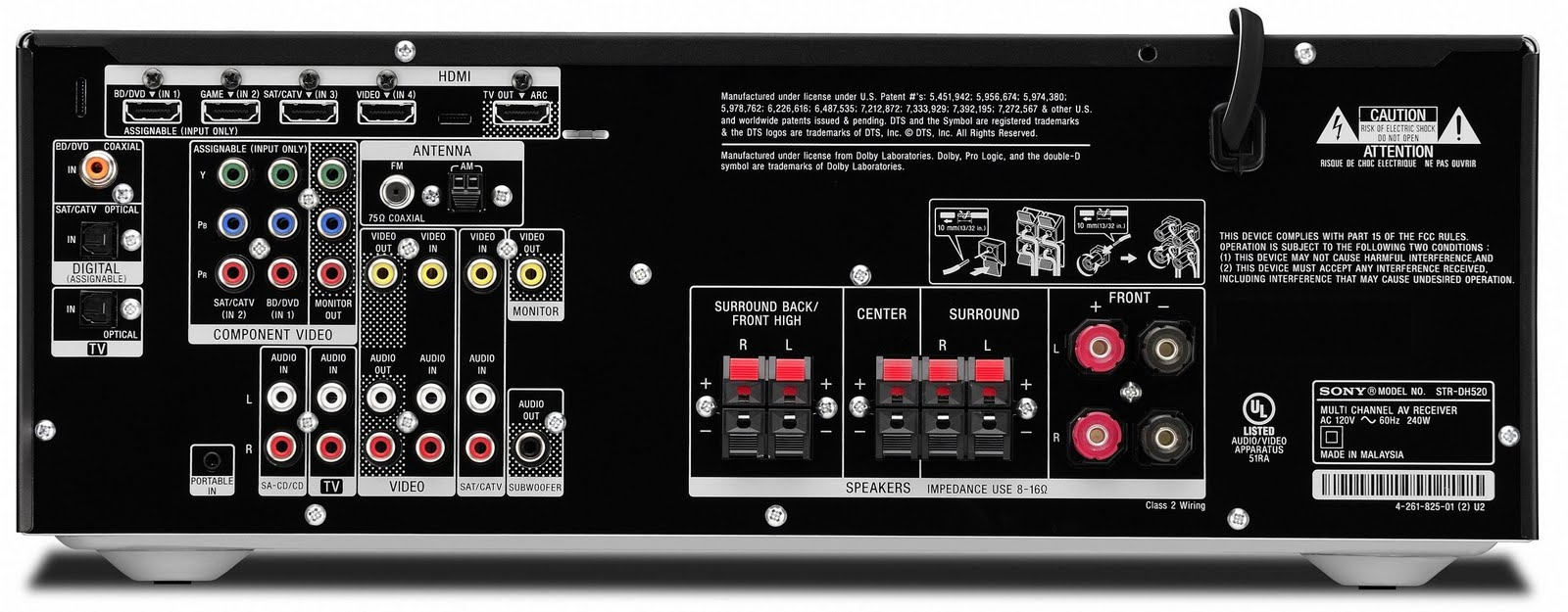 need amp recommendations for polk 6750 5 1 system with two 6751 rh overclock net sony receiver str-dh520 manual sony str dh520 service manual