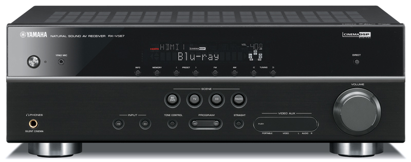 Yamaha RX-V567 7.1 Channel 3D compatible AV Recevier Black Enlarged Preview