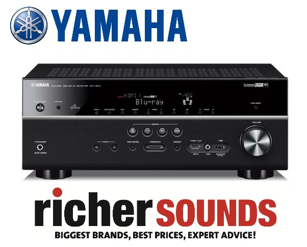 Richer sounds yamaha rx v673 av receiver upscales to 4k for Yamaha receiver rx v673 manual