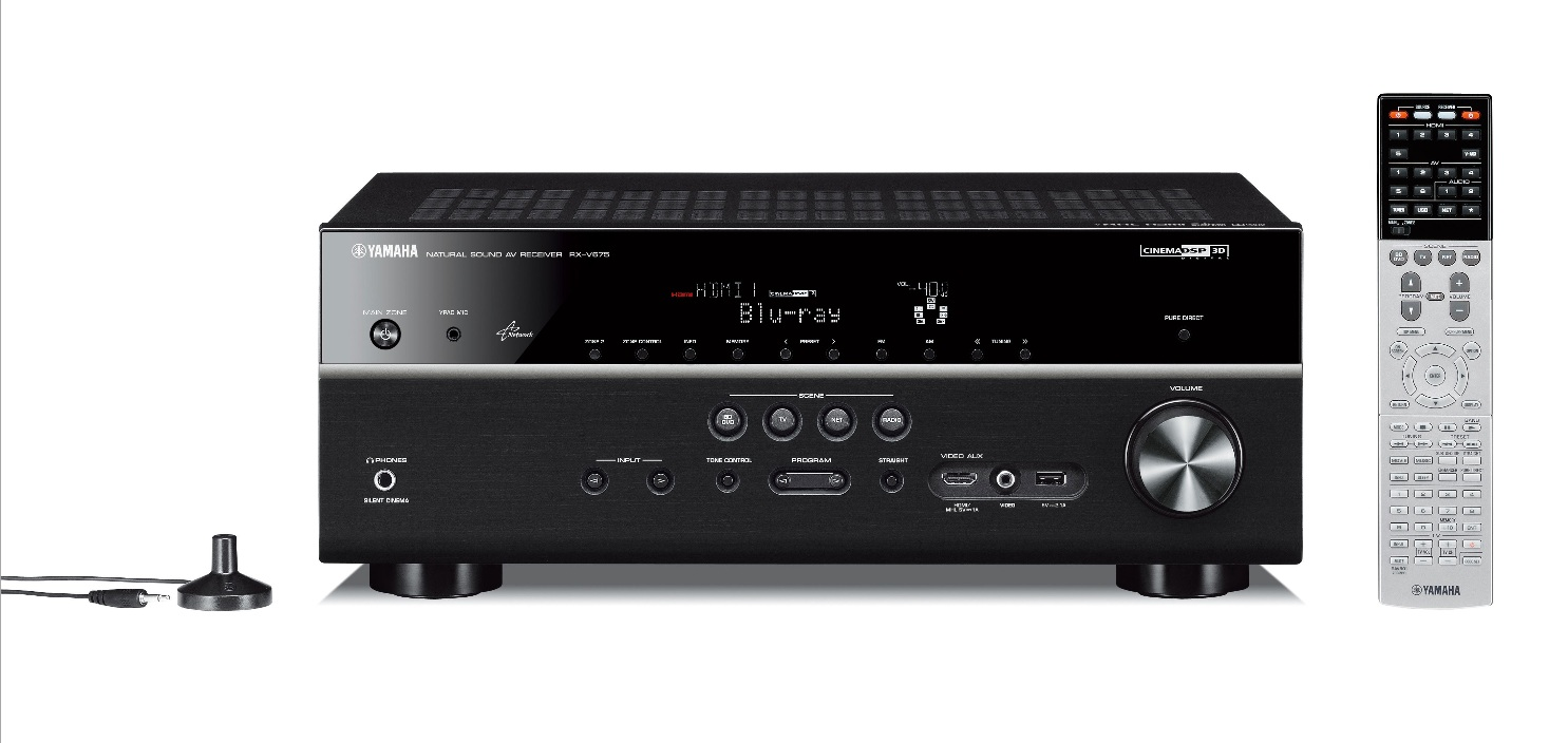 YAMAHA RX-V675 7.2 Channel 2 Zone 4K 3D Ready Black Home Cinema AV Receiver