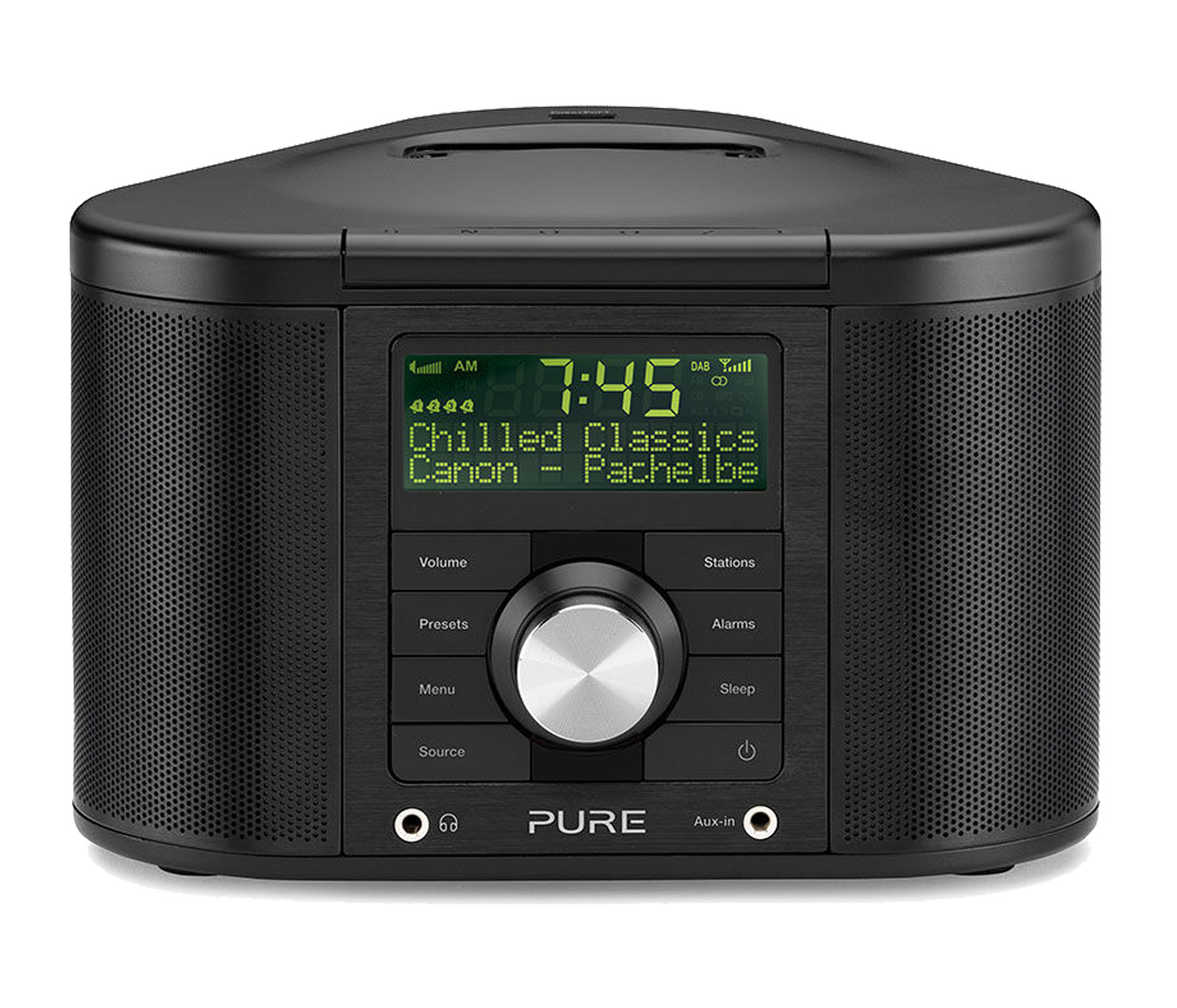 richer sounds pure chronos idock series ii black dab fm clock radio ipod dock ebay. Black Bedroom Furniture Sets. Home Design Ideas