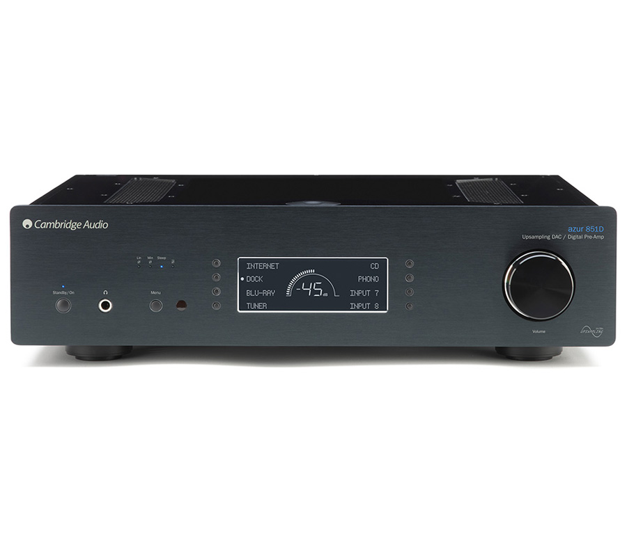 Richer Sounds Cambridge Audio AZUR 851D Black Digital Pre-Amplifier/DAC