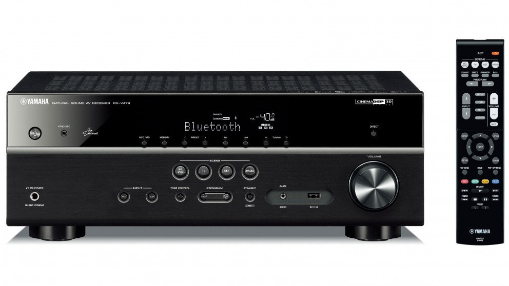 yamaha rxv479 5 1 channel 3d ready av receiver built in