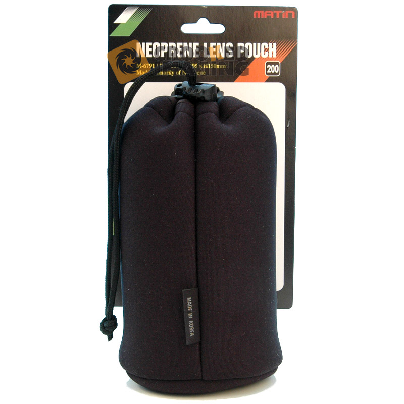 Matin Neoprene Camera Lens Pouch / Case / Bag - Size 200 - Large - UK