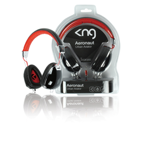 Konig KNG Aeronaut Black On-Ear Headphones - UK - KNG-5020