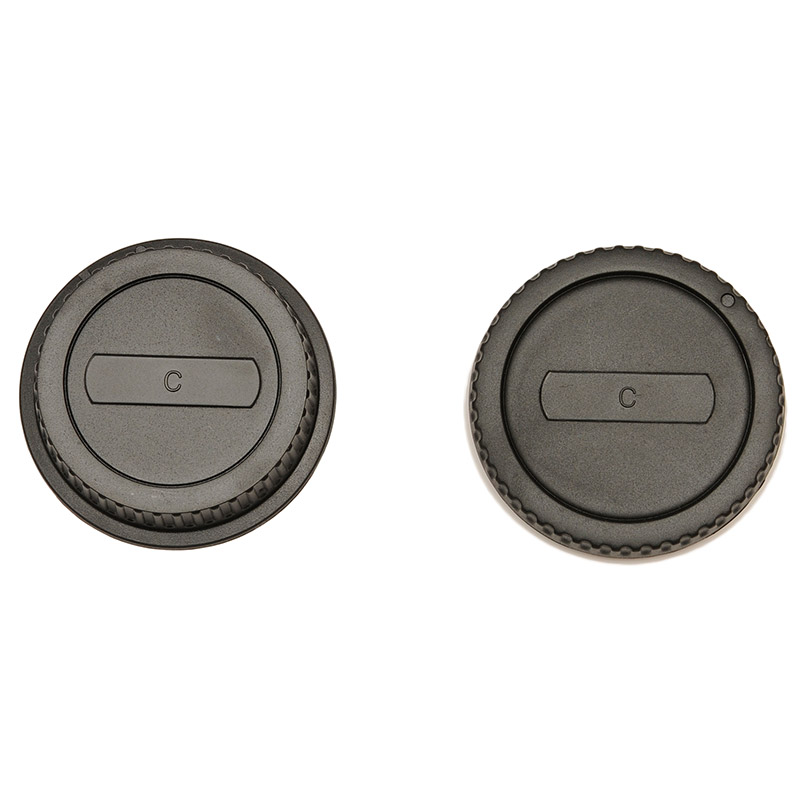 JJC Canon EOS Fit Rear Lens Cap & Camera Body Cap Combo Set - UK