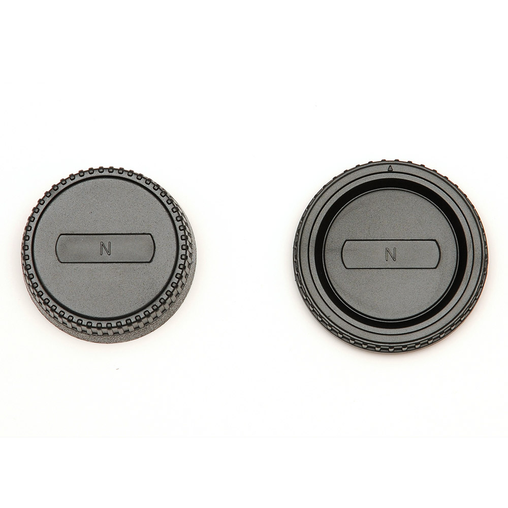 JJC Nikon F Fit Rear Lens Cap & Camera Body Cap Combo Set - UK