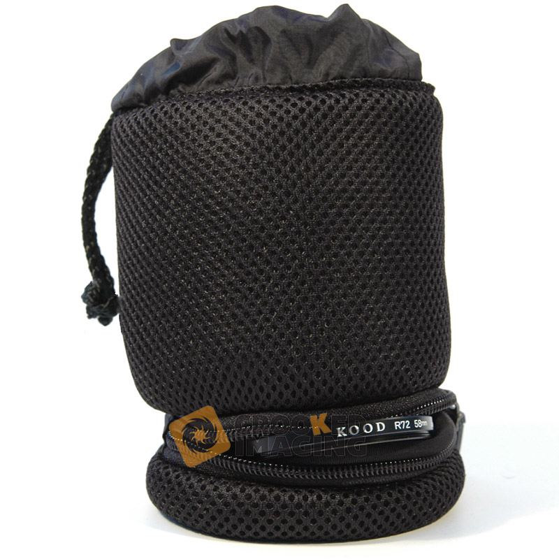 Kood Padded Camera Lens & Filter Pouch / Case - 75 x 100mm - Medium - UK