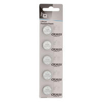 5 x CR2025 3V Lithium Button Coin Cell Battery - High Qulaity - 5 Pack