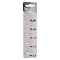 5 x CR1620 3V Lithium Button Coin Cell Battery - High Qulaity - 5 Pack