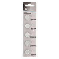 5 x CR2016 3V Lithium Button Coin Cell Battery - High Qulaity - 5 Pack