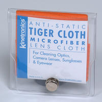 Kinetronics Tiger Lens & Camera Cleaning Microfibre Cloth - 133 x 146mm - UK