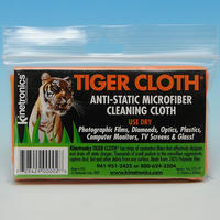 Kinetronics Tiger Lens & Camera Cleaning Microfibre Cloth - 250 x 450mm - UK