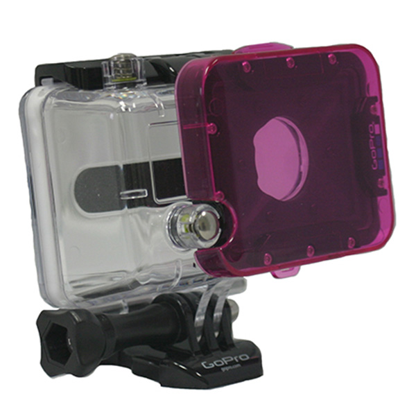 Polar Pro Magenta Filter for GoPro HD & 2 Dive Housing - For Green Water - UK
