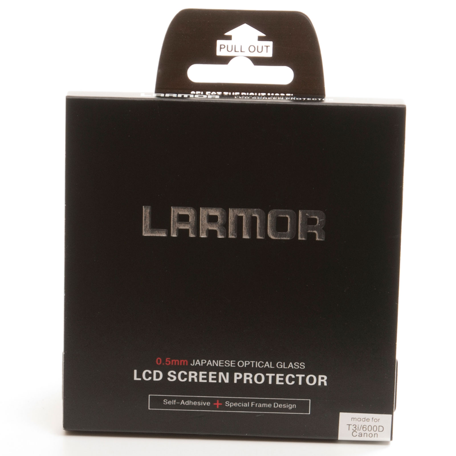 GGS Larmor Glass Screen Protector for Canon 600D Camera - Self-Adhesive