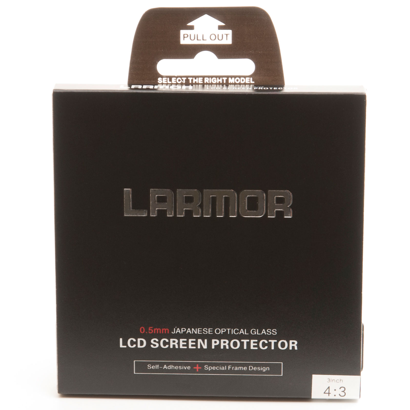 "GGS Larmor Glass Screen Protector for 3"" LCD 4:3 Ratio Camera - Self-Adhesive"