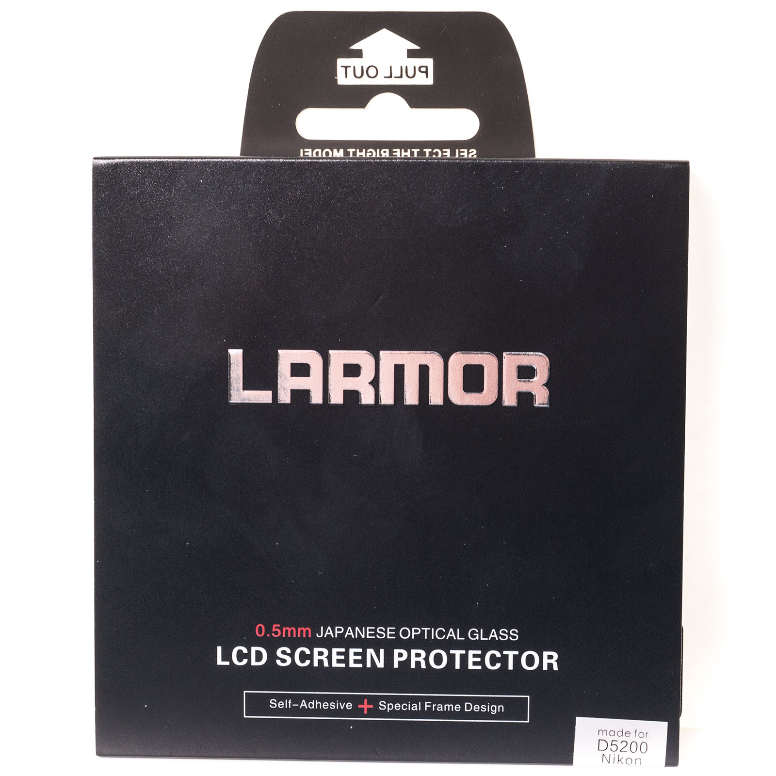 GGS Larmor Glass Screen Protector for Nikon D5200 Camera - Self-Adhesive