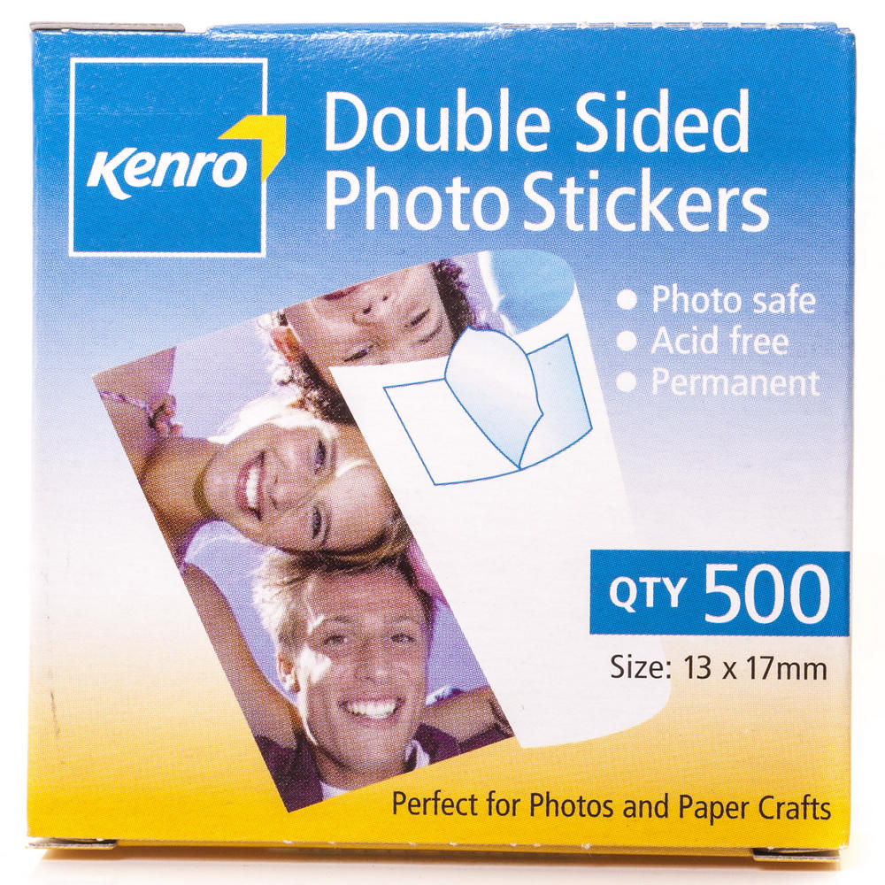 Kenro Double Sided Photo Mounting Sticky Pads Pack of 500 - Acid Free - PC102