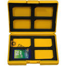 AP Yellow Secure Digital SD Memory Card Storage Case - Fits 8 Cards - UK