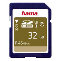 Hama SDHC Memory Card 32GB Class 10 UHS-I Secure Digital Card 45MB/s - UK