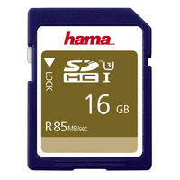 Hama SDHC Memory Card 16GB UHS-I Speed Class 3 Secure Digital Card 85MB/s - UK