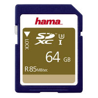 Hama SDXC Memory Card 64GB UHS-I Speed Class 3 Secure Digital Card 85MB/s - UK