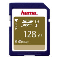 Hama SDXC Memory Card 128GB UHS-I Speed Class 3 Secure Digital Card 85MB/s - UK