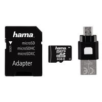 8GB Micro SD SDHC Card & USB Adapter & OTG Reader Class 10 22MB/s Mobile By Hama
