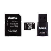 8GB Micro SD SDHC Card & USB Adapter & Reader Class 10 22MB/s Mobile By Hama