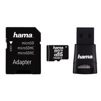 16GB Micro SD SDHC Card & USB Adapter & Reader Class 10 22MB/s Mobile By Hama