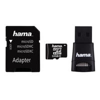 32GB Micro SD SDHC Card & USB Adapter & Reader Class 10 22MB/s Mobile By Hama