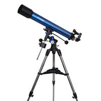 Meade Polaris 90 EQ3 German Equatorial Refractor 90mm Telescope With Tripod - UK