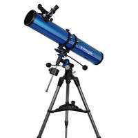 Meade Polaris 114 EQ3 German Equatorial Reflector 114mm Telescope With Tripod UK