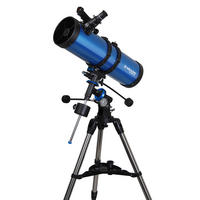 Meade Polaris 130 EQ3 German Equatorial Reflector 130mm Telescope With Tripod UK