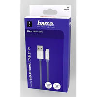 Micro USB Cable 1m Charging Data Sync High Quality Aluminium Blue By Hama Thumbnail 2