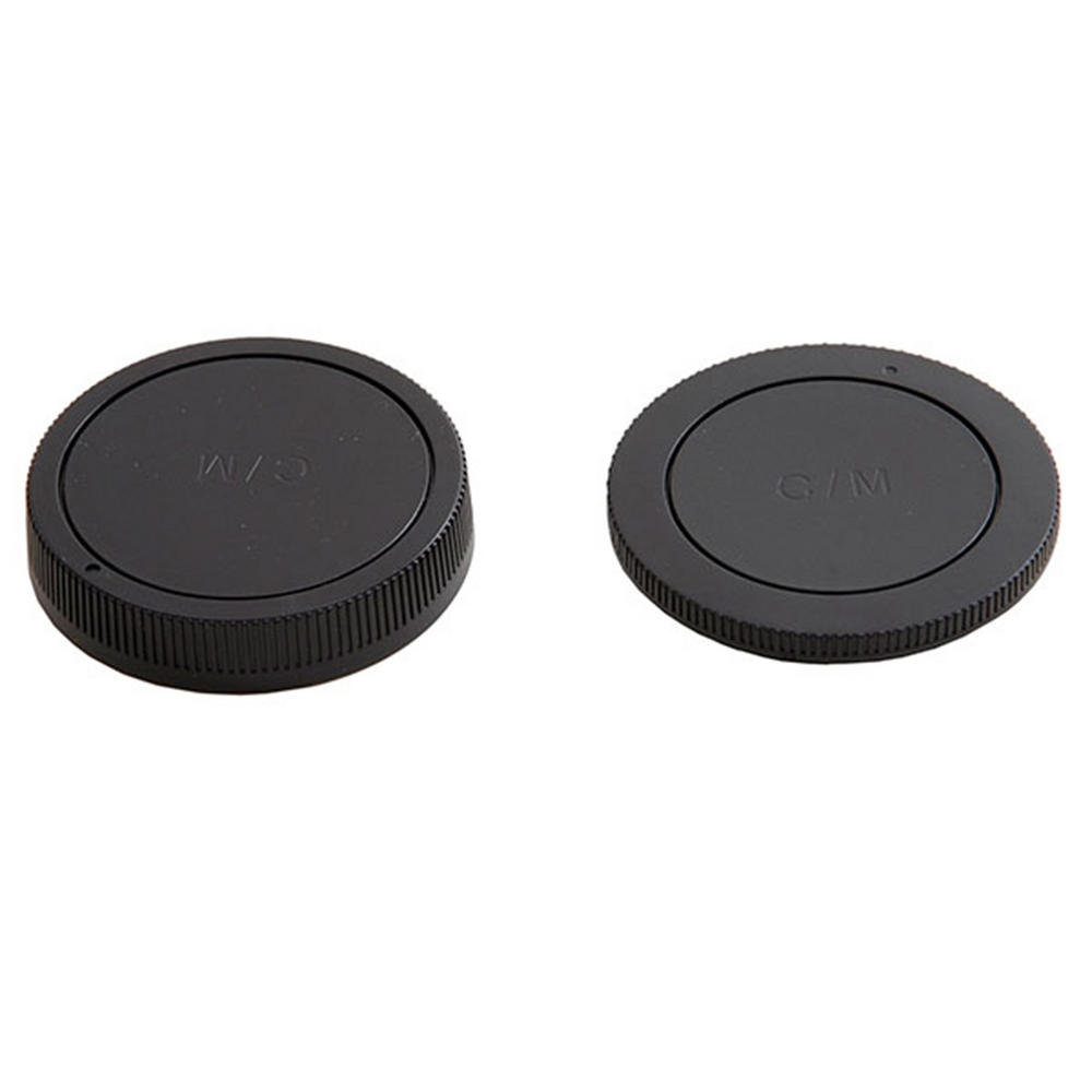 JJC Canon M Mount Fit Rear Lens Cap & Camera Body Cap Combo Set - UK