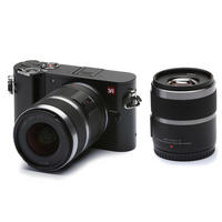 YI-M1 Mirrorless Digital Camera Two Lens Kit 42.5mm & 12-40mm Lenses - Black