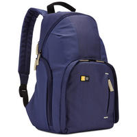 DSLR Camera Backpack Padded Rucksack Bag Split Day Pack By Case Logic - Blue