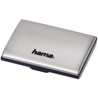 Hama SD Memory Card Storage Case Secure Digital Tote Fits 8 Cards Silver - UK