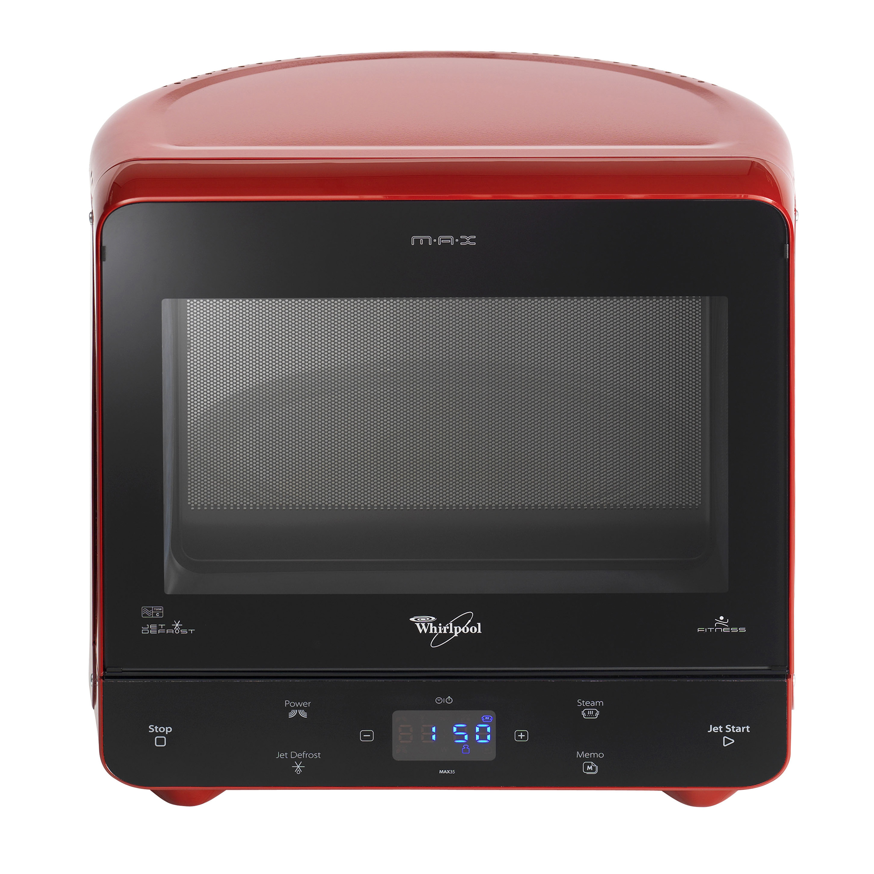 Whirlpool max 35 rd microwave jet defrost auto steam function red ebay - Whirlpool micro onde max ...