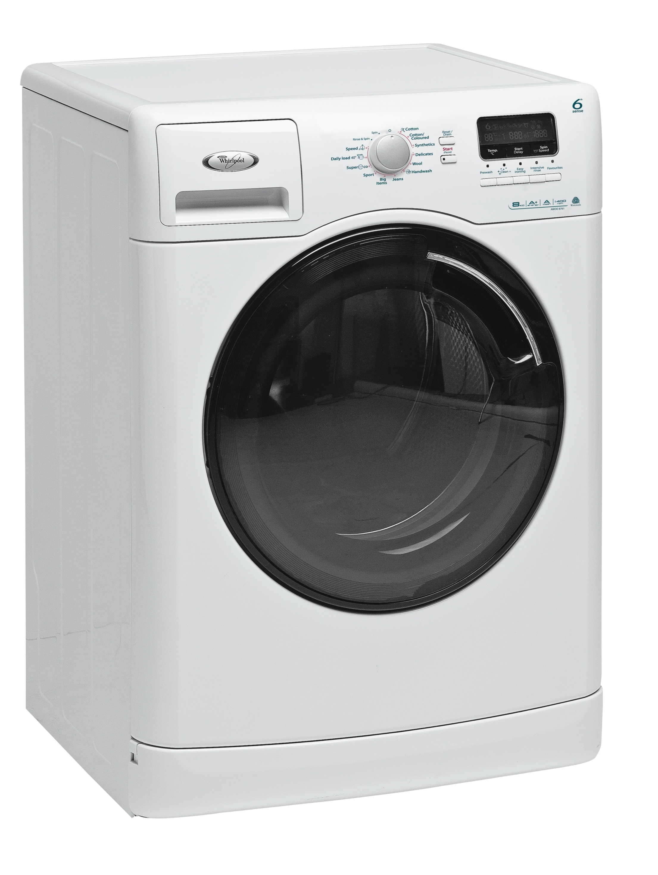whirlpool awoe 8761 washing machine 6th sense extra large. Black Bedroom Furniture Sets. Home Design Ideas