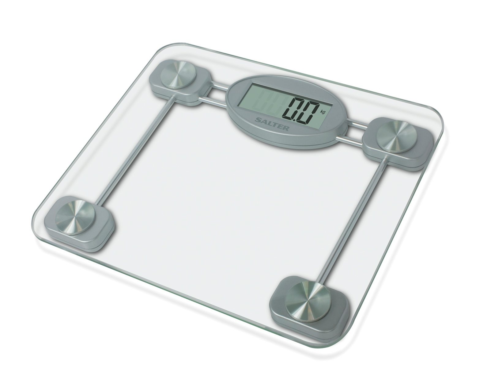 salter compact glass electronic bathroom scale enlarged preview