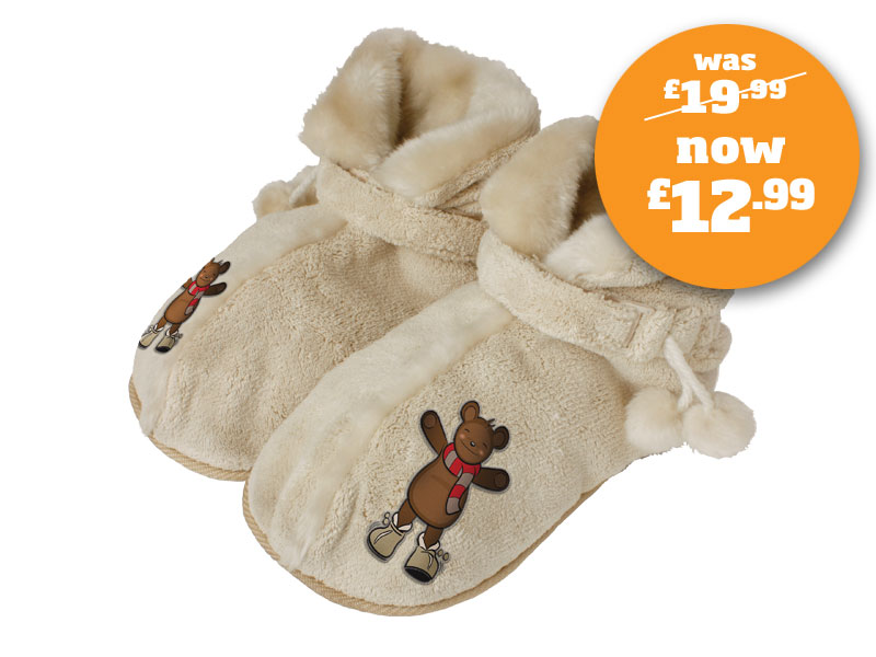 HoMedics MB-1TAB Snuggly Bear Massaging Slippers Enlarged Preview