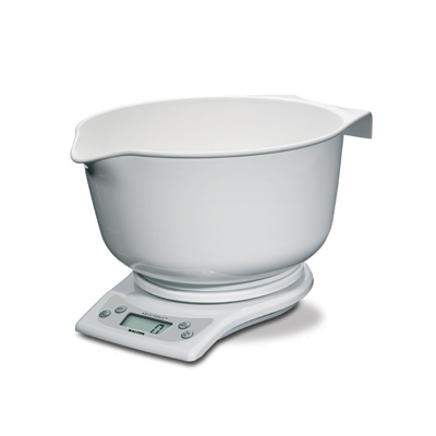 New Salter 1025 Mixing Bowl Electronic Kitchen Scale White with Digital Display Enlarged Preview